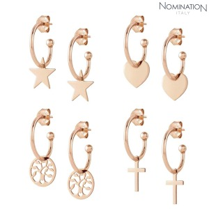 노미네이션 귀걸이 MELODIE (멜로디에) Earring sterling silver with 22K rose gold plated finish 147703(택1)
