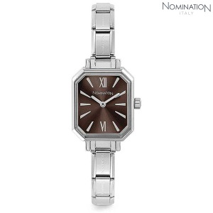노미네이션 시계 PARIS (파리) Silver Ladies Watch (Dark Brown) 076030/020