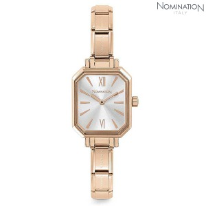 노미네이션 시계 PARIS (파리) Rose Gold Ladies Watch (Silver) 076031/017