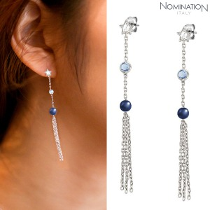 노미네이션 귀걸이 BELLA DREAM (벨라드림) earrings 925 silver, stones and crystal PENDANT 146674/010