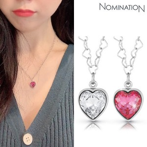 노미네이션 목걸이 LOVE CHIC (러브 시크) necklace and heart shaped Swarovski 043023(택1)