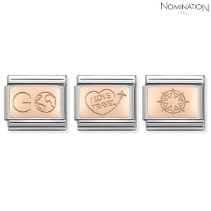 노미네이션 COMPOSABLE Classic PLATES SYMBOLS 9K rose gold 430110 (택1)