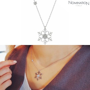 노미네이션 목걸이 WINTERLAND (윈터랜드) Necklace 925 silver and CZ Large Snowflake 147203/010