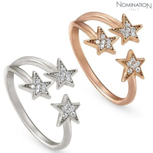 반지 STELLA (스텔라) ring cz with three stars 146702(택1)