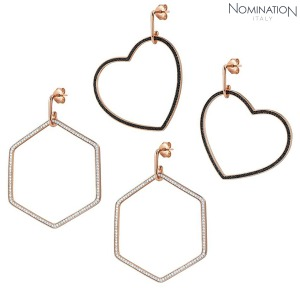 귀걸이 EMOZIONI (에모지오니) Earring sterling silver with cubic zirconia and 22K rose gold plated finish Large 147805(택1)