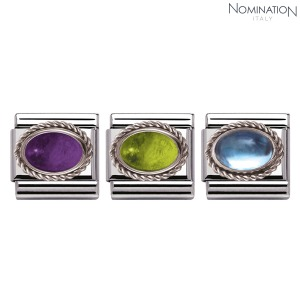 COMPOSABLE Classic SEMIPRECIOUS STONES in stainless steel with sterling silver setting and detail 330504 (택1)