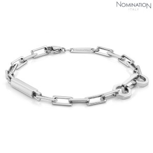 노미네이션 팔찌 BOND (본드) bracelet in stainless steel (Wide Rectangle) 021954/015