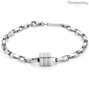 노미네이션 팔찌 BOND (본드) bracelet in stainless steel (Tight Rectangle) 021954/016